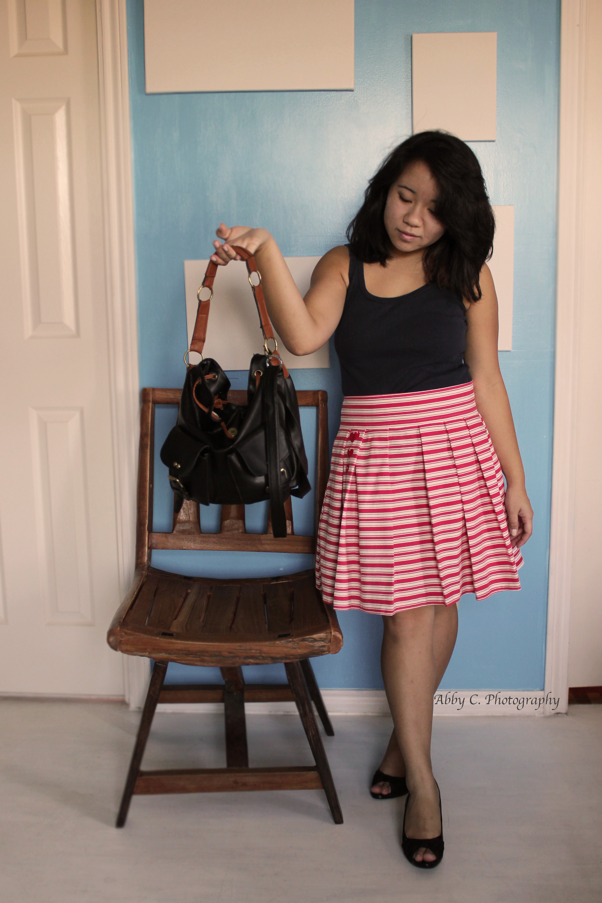 Cute Striped Aline Skirt