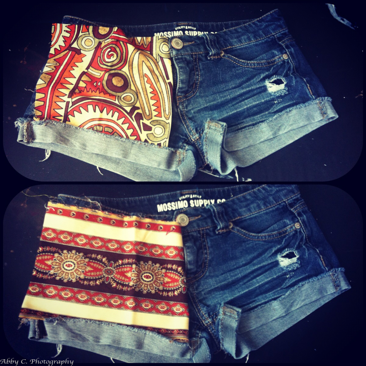 DIY Patterned Shorts Finished Product Choices